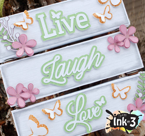 Live, Laugh, Love Sign 3D SVG Kit