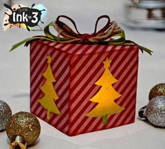 Christmas Luminary One Piece Box, 3D SVG Cut File