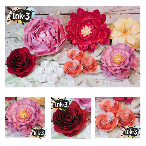 Lush Flowers 3D SVG Kit