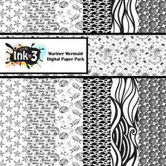 Mariner Mermaid Digital Paper Pack