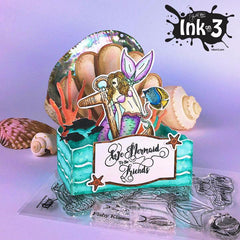 Example, using our Mariner Mermaid Clear Stamp Set