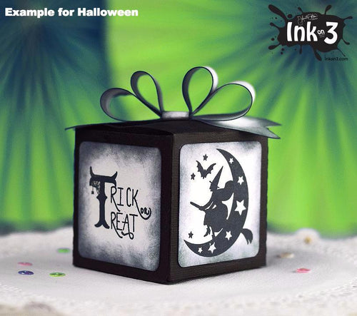 Halloween One Piece Box 3D SVG Cut File