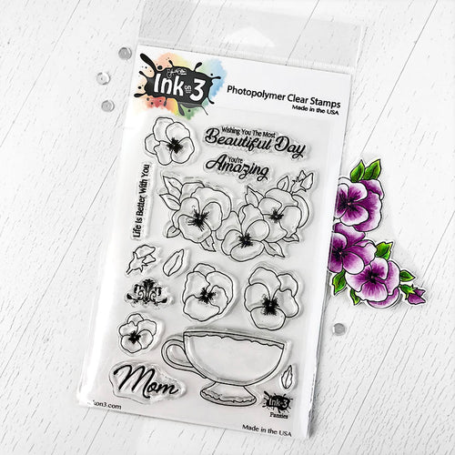 Pansies Clear Stamps