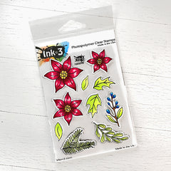 Poinsettia Clear Stamps Ink On 3 inkon3.com