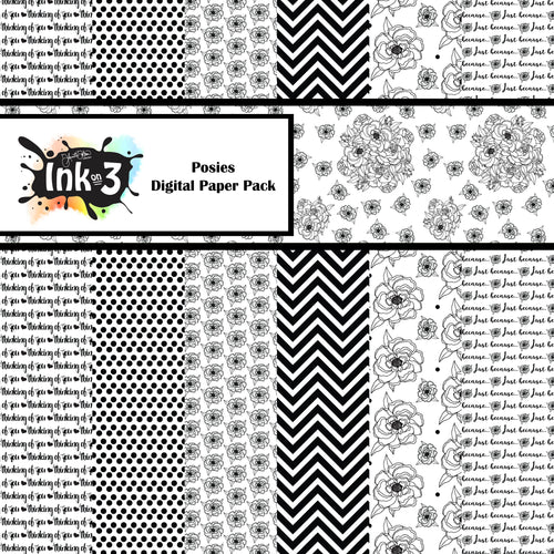 Posies Digital Paper Pack