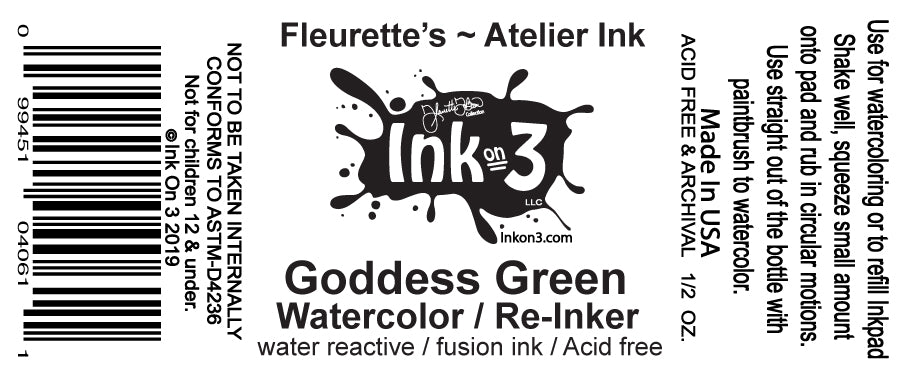 Atelier Watercolor / Re-inker Goddess Green inkon3.com