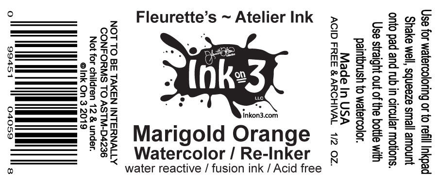Atelier Watercolor / Re-inker Marigold Orange inkon3.com