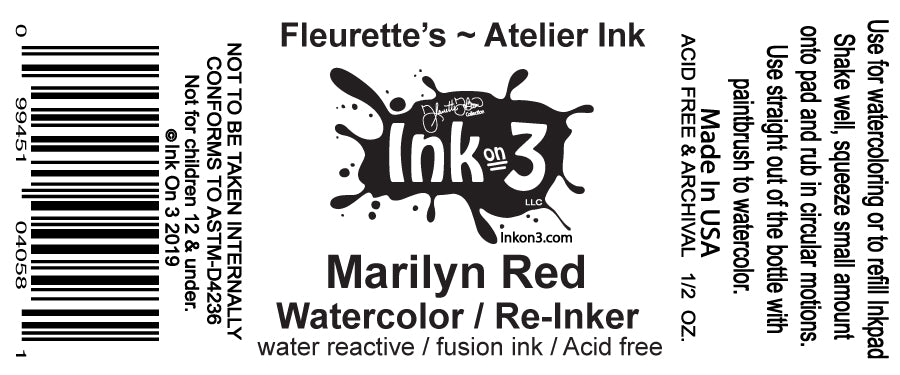 Atelier Watercolor / Re-inker Marilyn Red inkon3.com