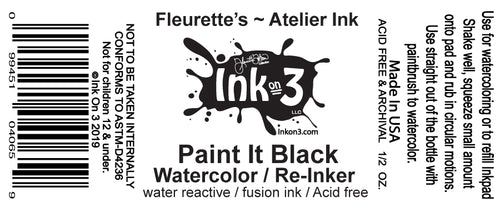 Atelier Watercolor / Re-inker Paint It Black inkon3.com