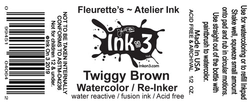 Atelier Watercolor / Re-inker Twiggy Brown inkon3.com
