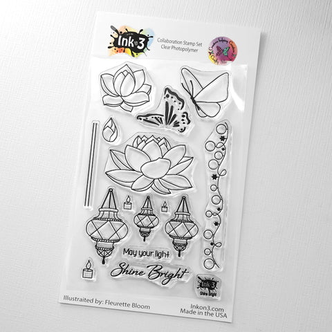 Koi Pond 4x6 Clear Stamp Set