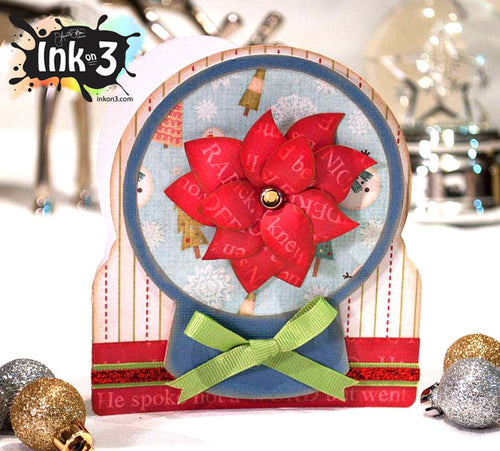 Snow Globe Poinsettia Card SVG Kit