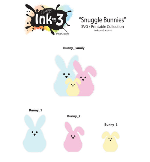 Snuggly Bunny (Free SVG) kit