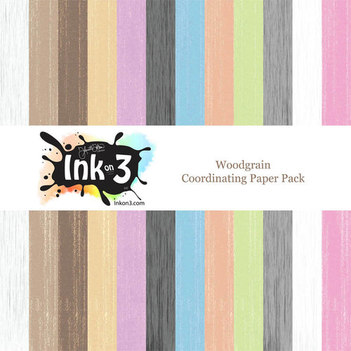 Woodgrain Coordinating Digital Paper Pack inkon3.com
