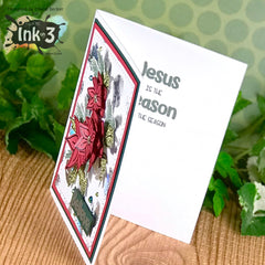 Card Example Blessings / Poinsettia by Cheryl ~ inkon3.com