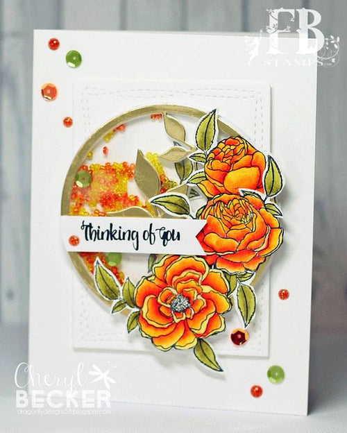Card Example by Cheryl ~ using Posies Stamp Set