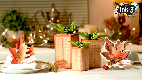 Thanksgiving table set with the inkon3 Fall svg cut files