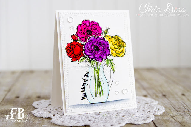 Card Example by Ilda ~ using Posies Stamp Set