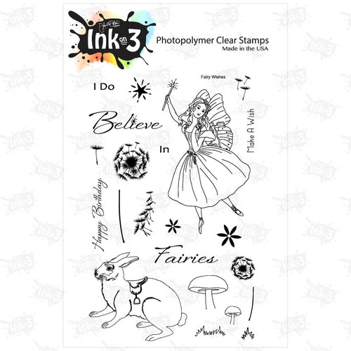 Fairy Wishes 4x6 Clear Stamp Set