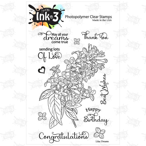 Triple Rose 4x6 Clear Stamp Set