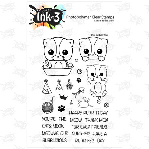 Raccoon Hugs 4x6 Clear Stamp Set