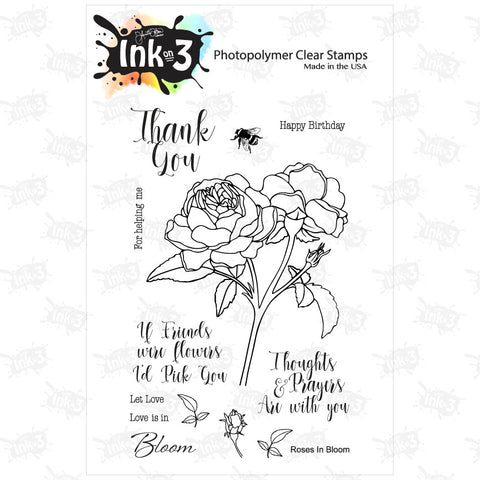 Rain Or Shine ~ Little Darlings 4x6 Clear Stamp Set