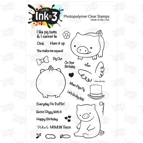 Three Little Pigs 4x6 Clear Stamp Set