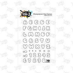 Phat Alphanumeric 4x6 Clear Stamps