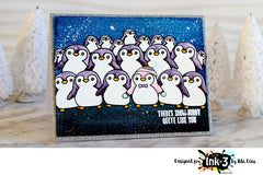 Card by Ilda using Snow Buddies Clear Stamps by inkon3.com