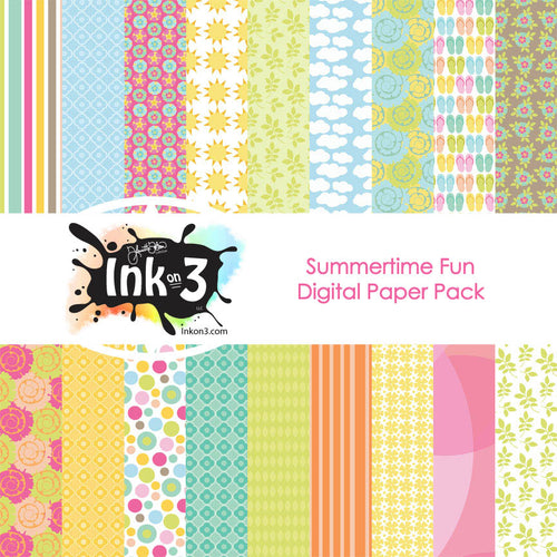 Summertime Fun Digi Paper Pack Fleurette Bloom inkon3