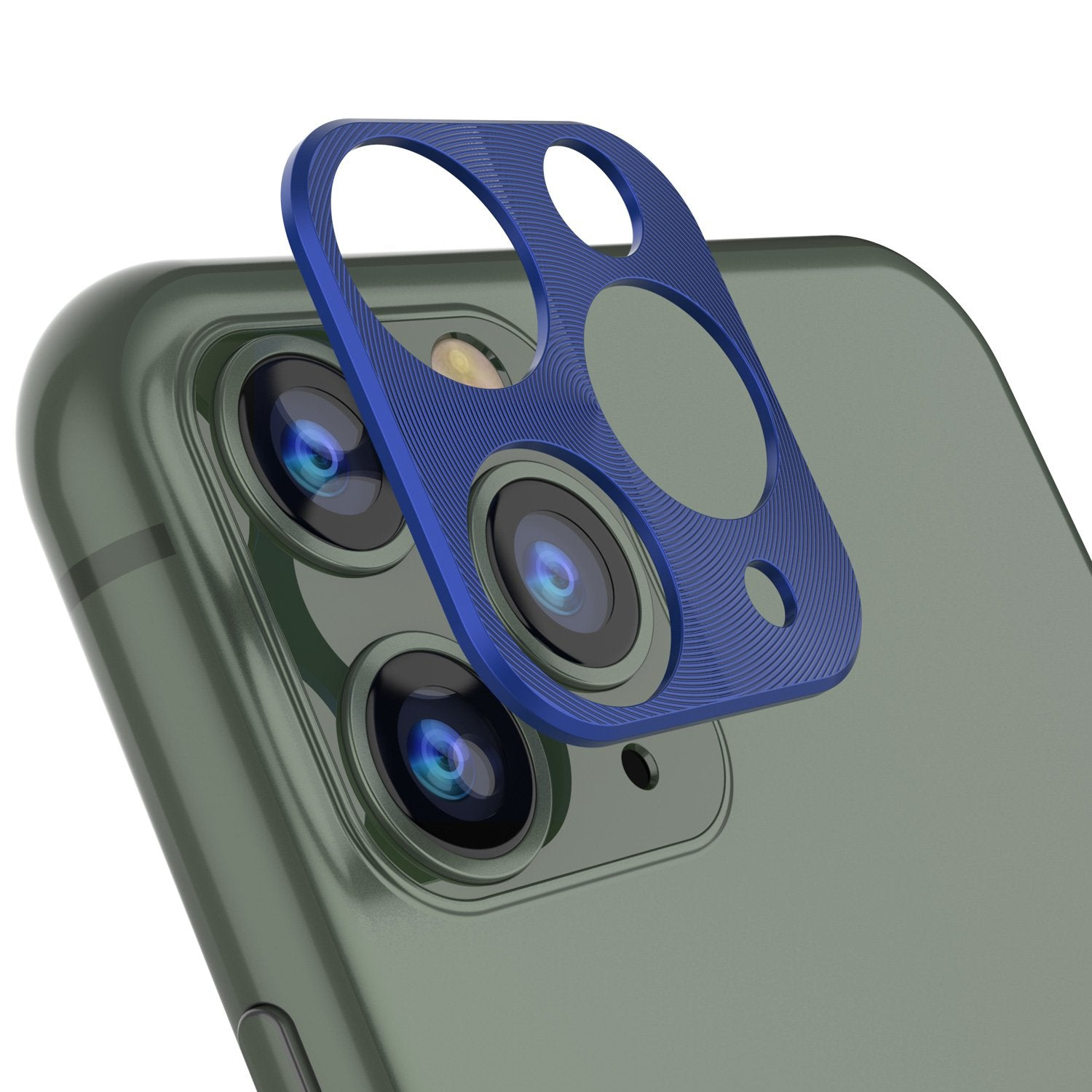 Punkcase iPhone 11 Pro Max Camera Protector Ring [Blue]