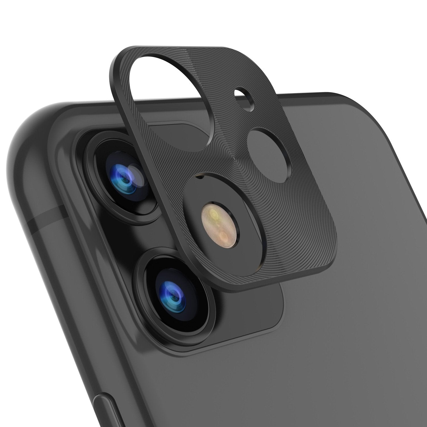 Punkcase iPhone 11 Camera Protector Ring [Black]