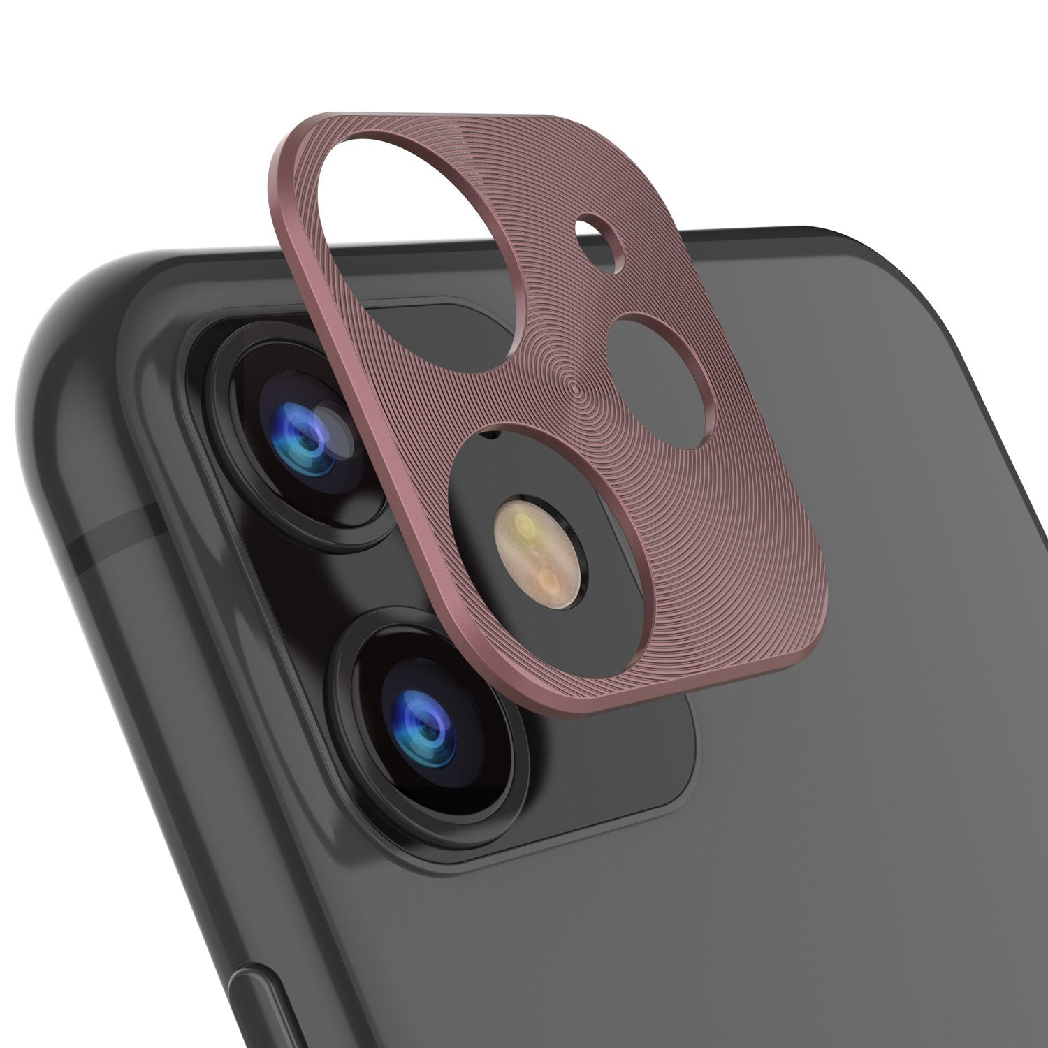 Punkcase iPhone 11 Camera Protector Ring [Rose-Gold]