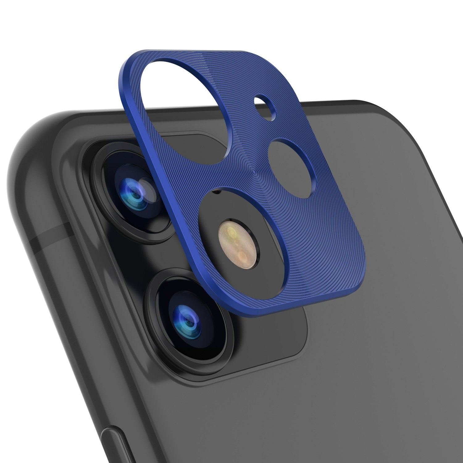 Punkcase iPhone 11 Camera Protector Ring [Blue]