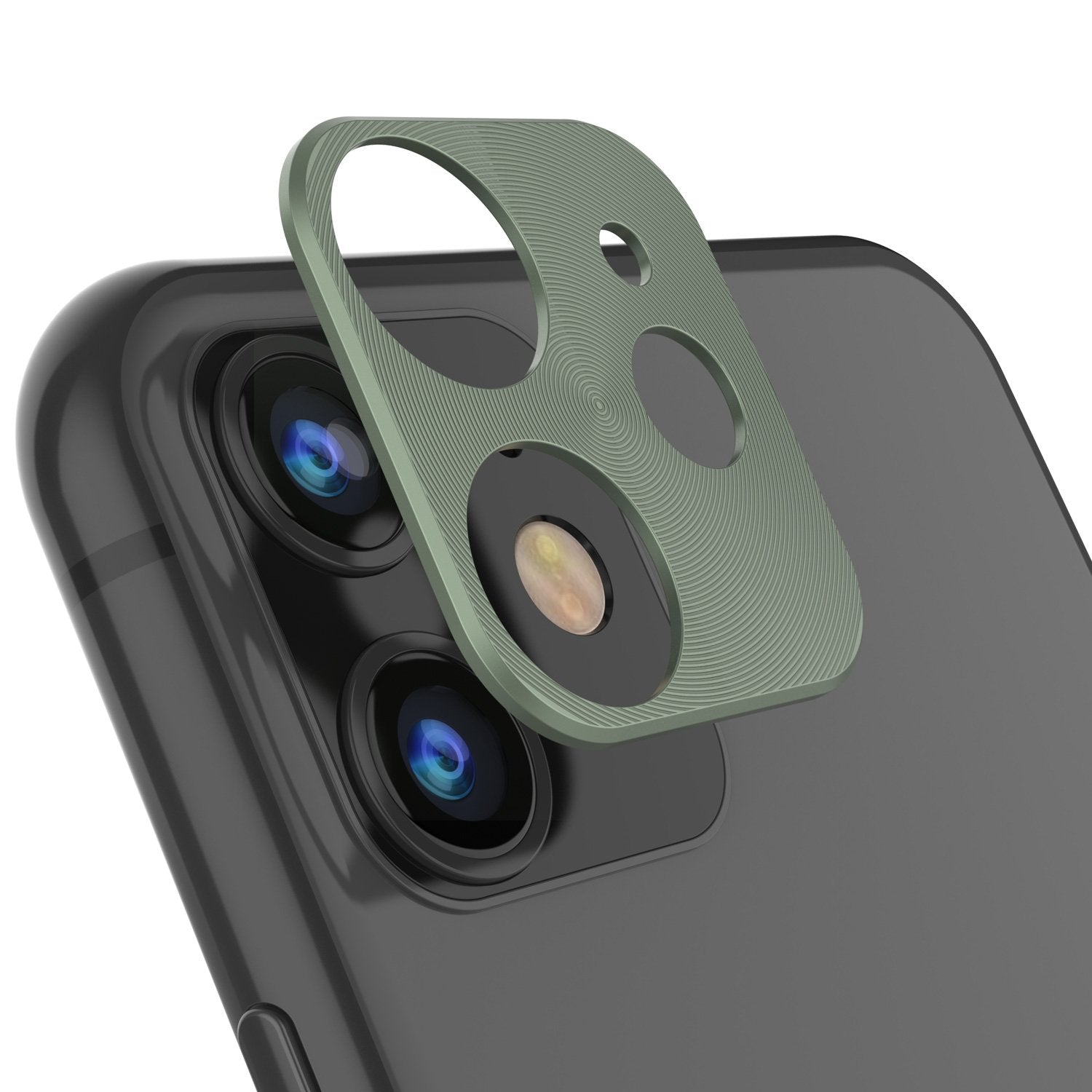 Punkcase iPhone 11 Camera Protector Ring [Green]
