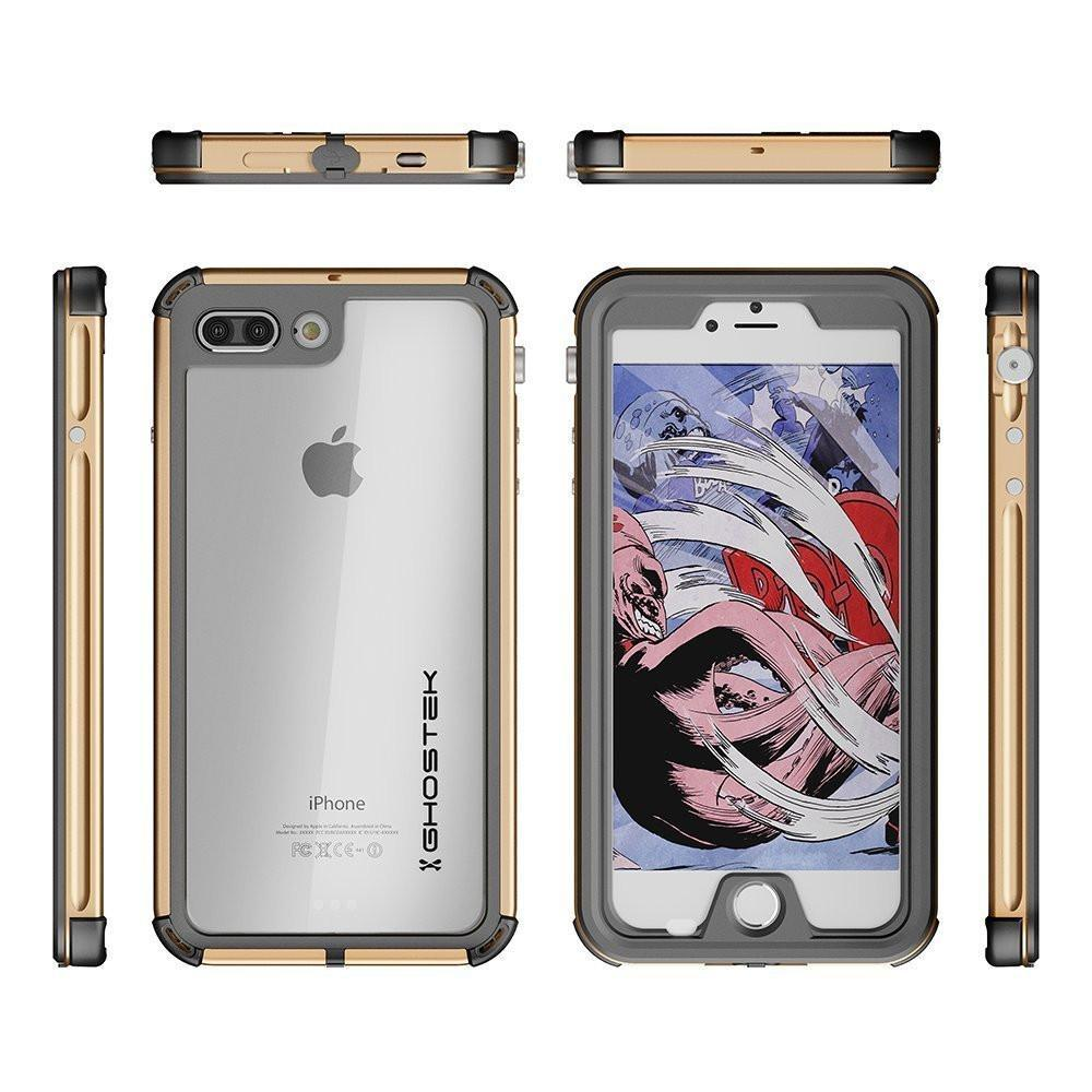 iPhone 8+ Plus Waterproof Case, Ghostek® Atomic 3.0 Gold Series