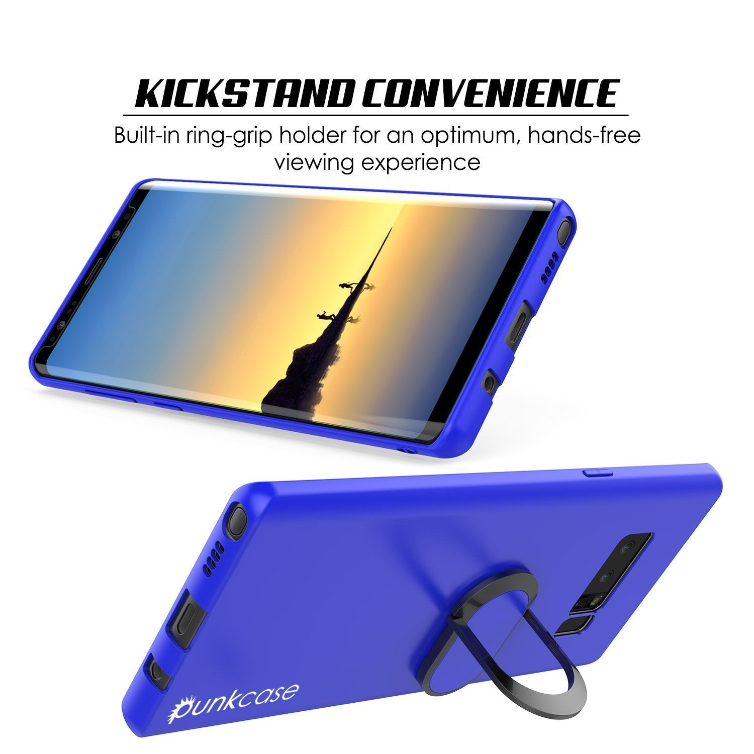 Galaxy Note 8 Case, Punkcase Magnetix Protective TPU Cover W/ Kickstand, Screen Protector [Blue]