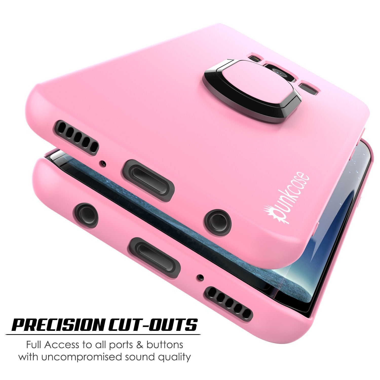 Galaxy S8 Case, Punkcase Magnetix Protective TPU Cover W/ Kickstand, Screen Protector [Pink]