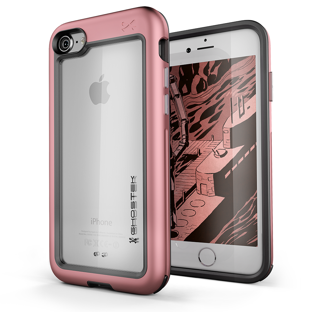 iPhone 8 Waterproof Case, Ghostek® Atomic Series | Shockproof | Dirt-proof | Snow-proof | Ultra Fit | [PINK]