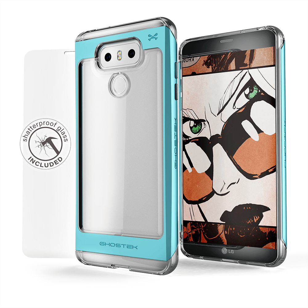 LG G6 Case, Ghostek® Cloak 2.0 Teal Series w/ Explosion-Proof Screen Protector | Aluminum Frame