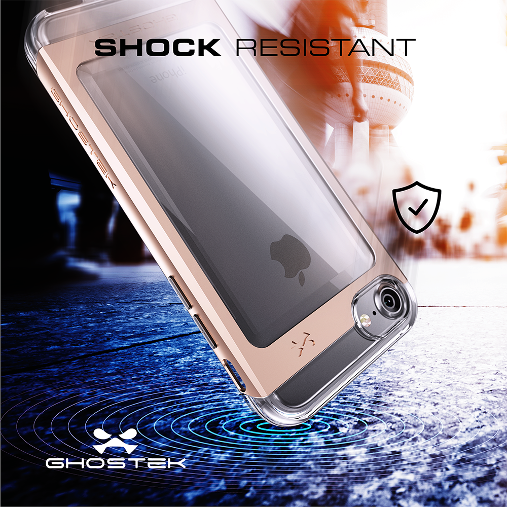 iPhone 8 Case, Ghostek® Cloak 2.0 Series for Apple iPhone 8 Slim Protective Armor Case Cover | Explosion-Proof Screen Protector | Aluminum Frame | TPU Shell | Warranty | Ultra Fit (Gold)