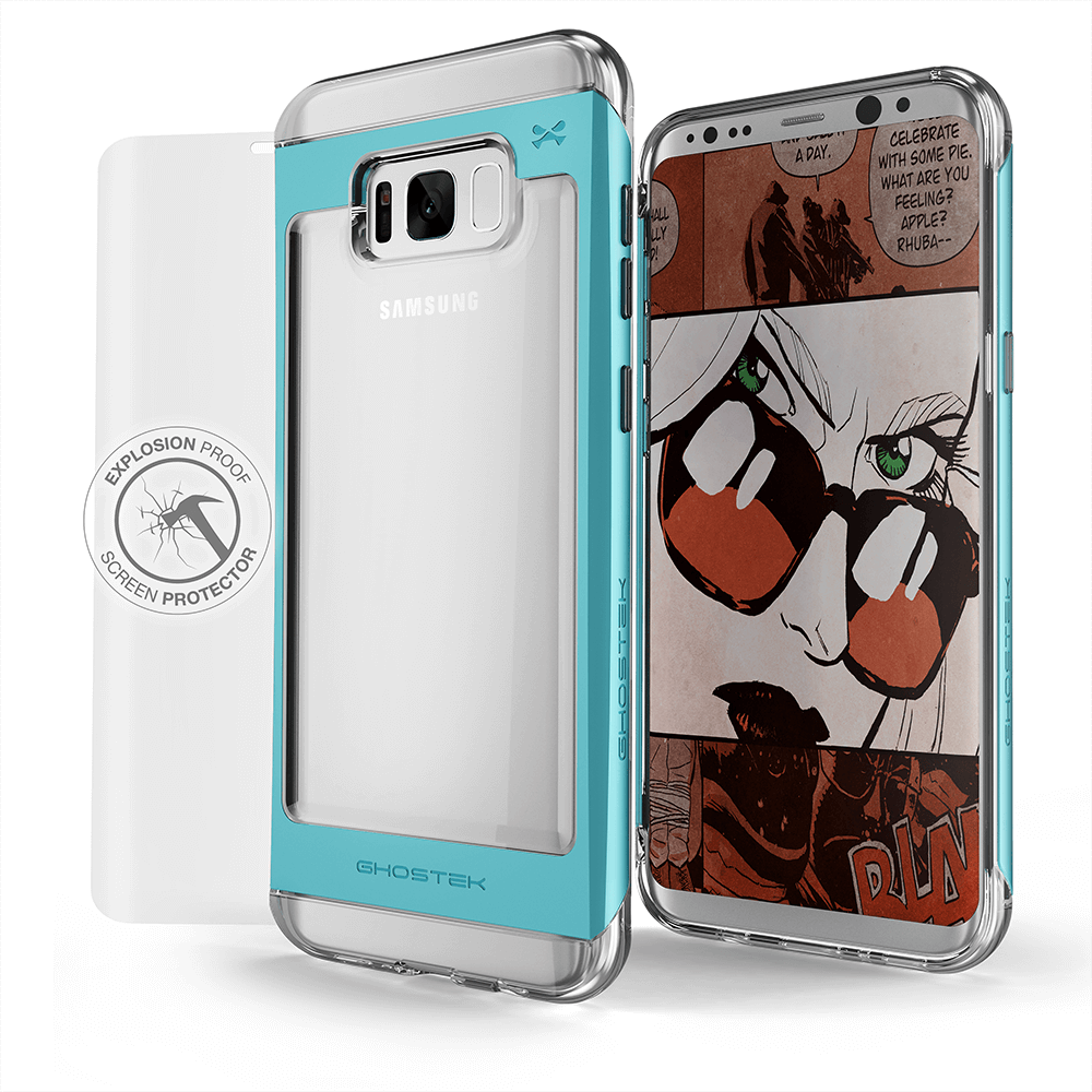 Galaxy S8 Case, Ghostek® 2.0 Teal Series w/ Explosion-Proof Screen Protector | Aluminum Frame