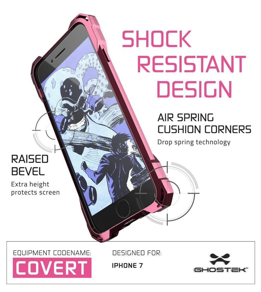 iPhone 8 Case, Ghostek® Covert Peach, Premium Impact Protective Armor | Lifetime Warranty Exchange