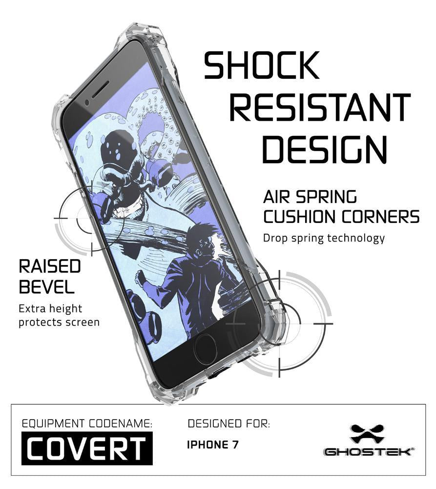 iPhone 8+ Plus Case, Ghostek® Covert Clear, Premium Impact Protective Armor | Warranty