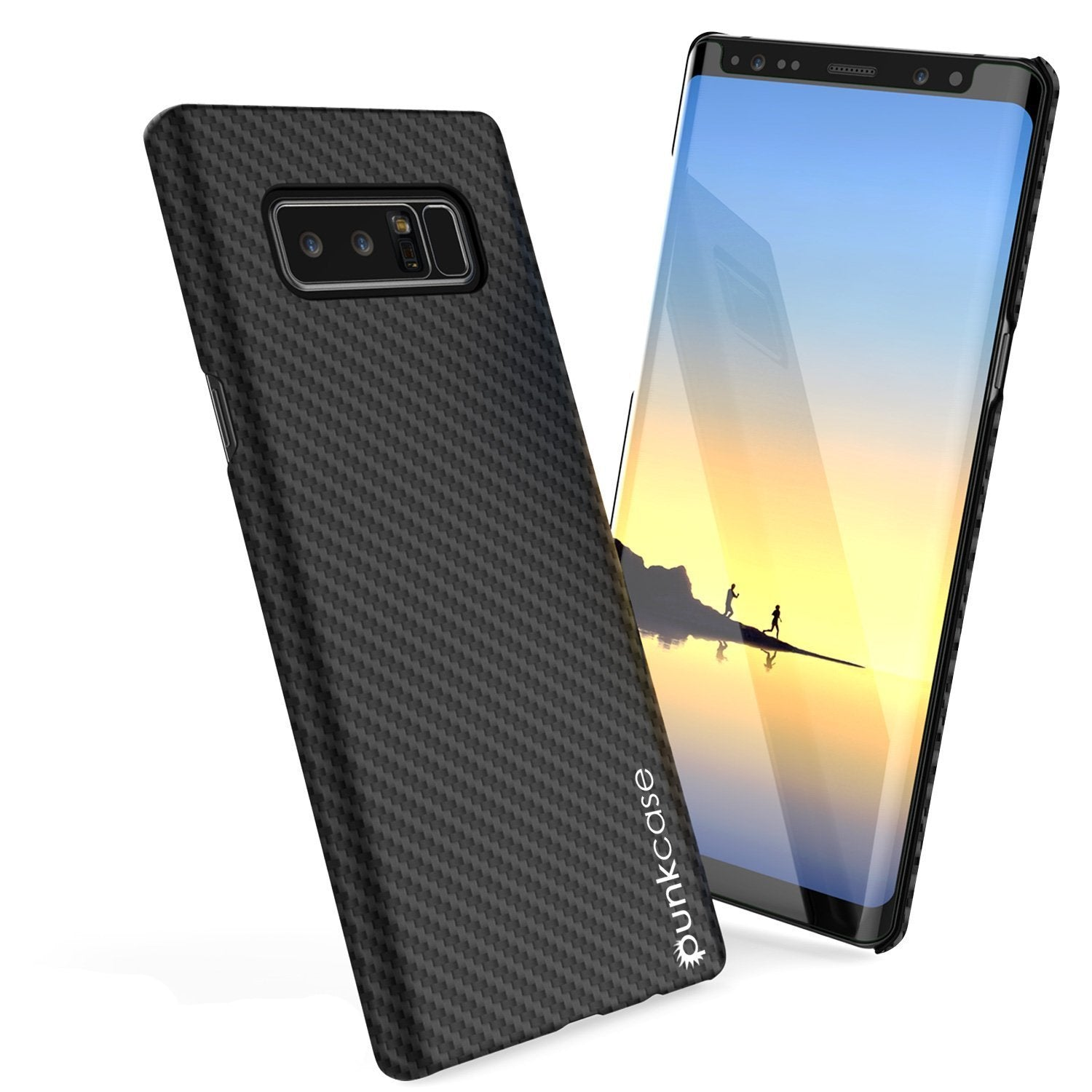 Galaxy Note 8 Case, Punkcase CarbonShield, Heavy Duty with PUNKSHIELD Screen Protector for Samsung Note 8 [jet black]