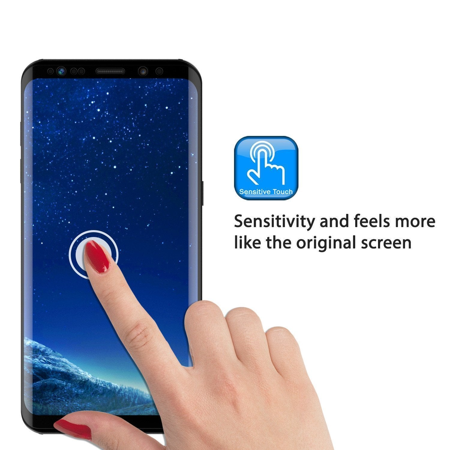 Galaxy S9  Black Punkcase Glass SHIELD Tempered Glass Screen Protector 0.33mm Thick 9H Glass
