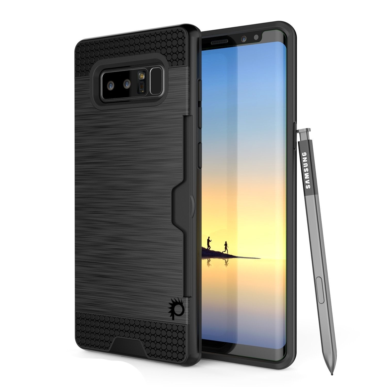Galaxy Note 8 Case, PUNKcase [SLOT Series] Slim Fit  Samsung Note 8 [Black]