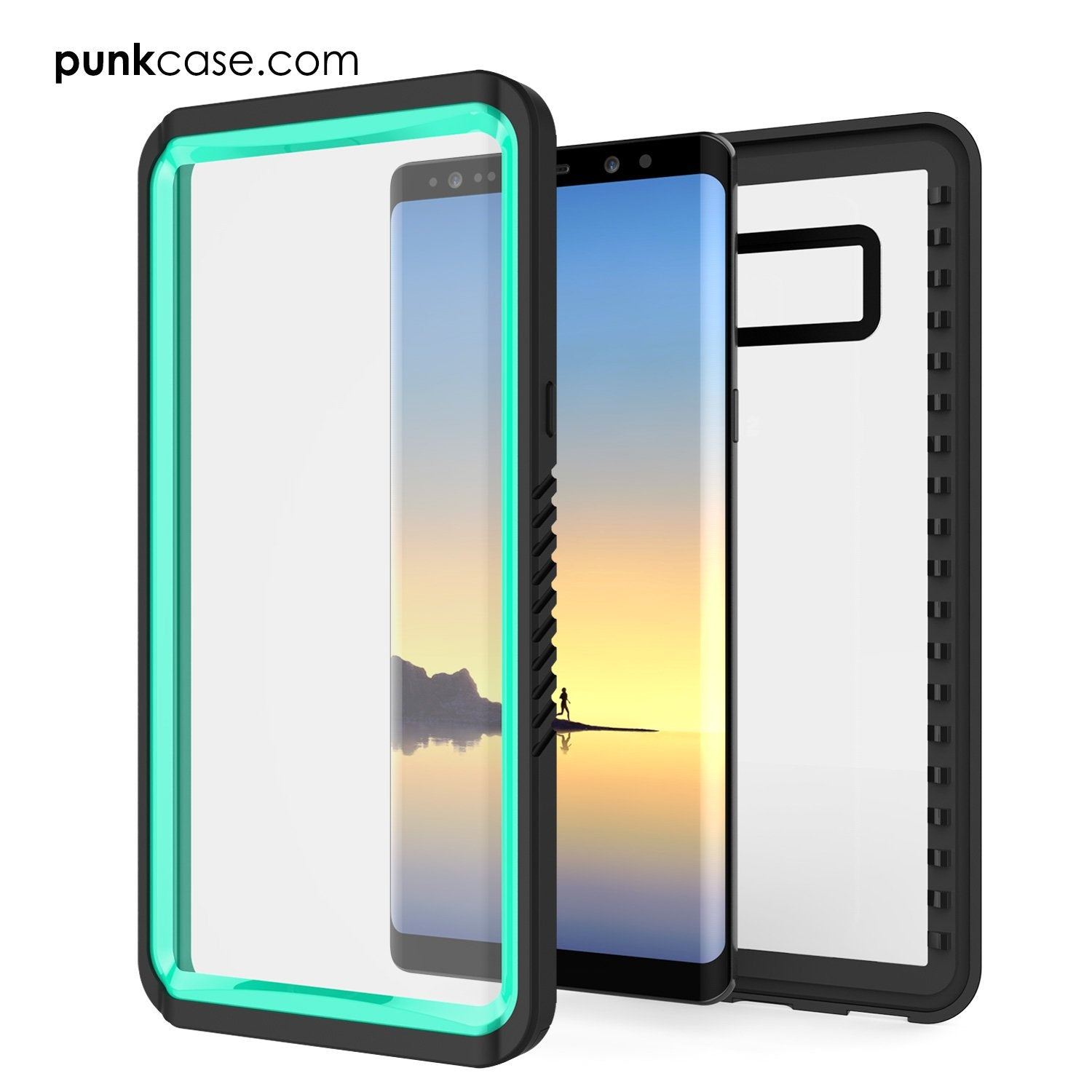 Galaxy Note 8 Case, Punkcase [Extreme Series] [Slim Fit] [IP68 Certified] [Shockproof] Armor Cover W/ Built In Screen Protector [Teal]