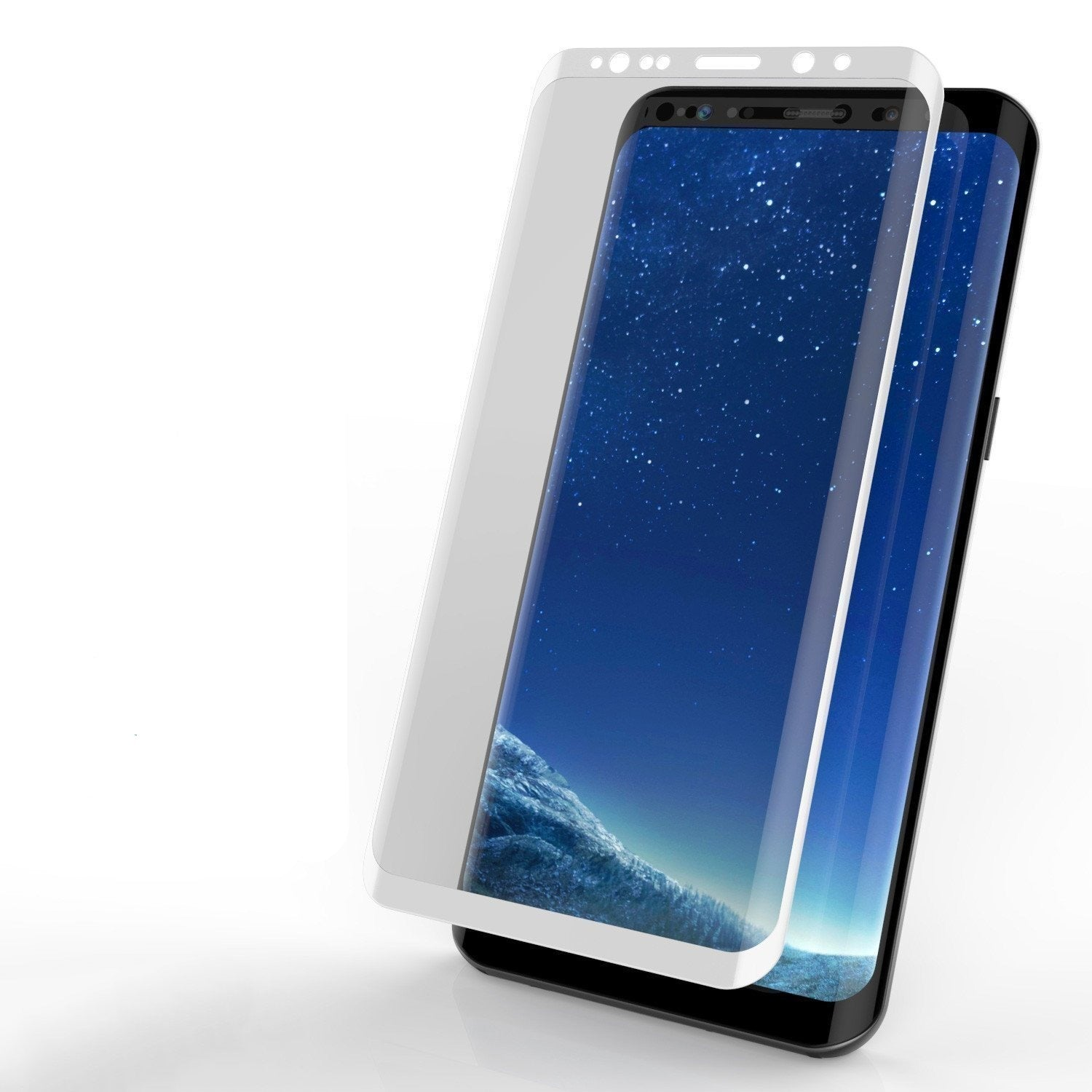 Galaxy S10+ Plus White Punkcase Glass SHIELD Tempered Glass Screen Protector 0.33mm Thick 9H Glass