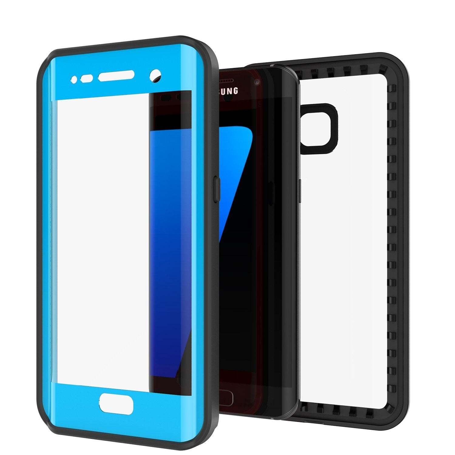 Galaxy S7 Edge Waterproof Case, Punkcase [Extreme Series] [Slim Fit] [IP68 Certified] [Shockproof] [Snowproof] [Dirproof] Armor Cover [Light Blue]